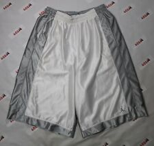 Vintage Jordan Shorts Men's Large White Silver Dazzle Jumpman