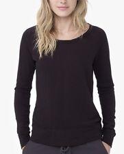Nwt $135 James Perse Vintage Fleece Long Sleeve Sweatshirt Top Black  Size 4