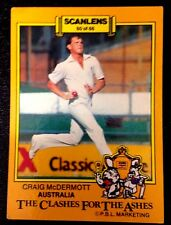 SCANLENS-AUST: CRAIG McDERMOTT 1986-87 CLASHES FOR THE ASHES Cricket Card # 60