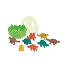 8Pc Rubber Pencil Eraser Set Stationery Kid Children Novelty Dinosaurs Green Egg