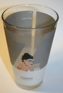 Cinzano Glass Mixin*Style 00 Advertising Glass Frosted Logo