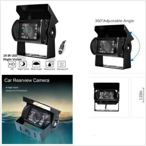 Car Truck RV Mini-van Rear View HD CCTV Camera 18 IR LED Light Waterproof