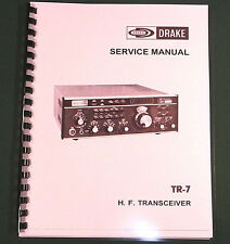 "Drake TR-7 Service Manual: w/11""X17"" Foldout Schematics & Protective Covers!"
