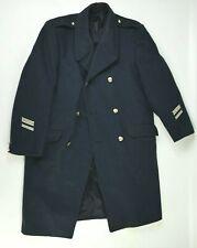 Manteau ABL t 54 (L) vintage Belgian army woolen peacoat s.44 BLUE