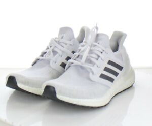 80-23 $180 Men's Sz 9.5 M Adidas Ultraboost 20 Fabric Running Sneaker In Light