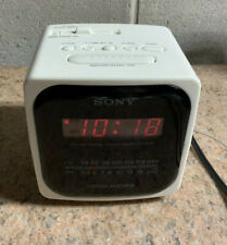 Sony Dream Machine Cube White FM/AM Alarm Radio  ICF-C121 Vintage Tested Works