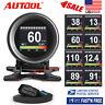 Autool X60 Car OBD2 Speedometer Overspeed Alarm Oil Water Temp Pressure Meter