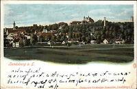 Landsberg am Lech Litho-AK ~1900 Panorama Verlag Samweber gel. n. Wittgensdorf