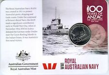 2015 Anzacs Remembered Coin Series - Day 5 - ROYAL AUSTRALIAN NAVY 20c Coin