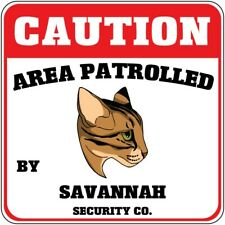 Yellow Aluminum Crossing Sign Area Patrolled by Savannah Cat Cross Xing