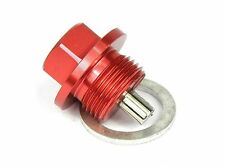 Magnetic Oil Sump Drain Plug - Honda -  M14x1.5 RED Includes washer