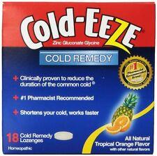 COLD-EEZE Lozenges Natural Tropical Fruit 18 per box