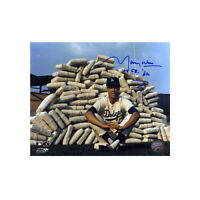 Maury Wills signed LA Dodgers 8x10 Photo w/ Dual 104 S.B. & '62  Inscription