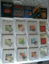 21 VINTAGE LOT APPLE II Computer Manuals Tutorial Guides and Books VG COND