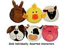 """Dog Chew Toys Subwoofer Flat Disc Shaped Giant Squeaker Assorted Farm Animals 7"""""""