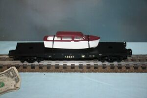 American Flyer No. 6-48561 Jersey Central Flatcar w/Boat Load NEW S Gauge Lionel