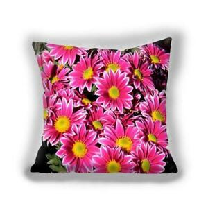 Bright Floral Pink Red Blue Throw Pillow  Cover