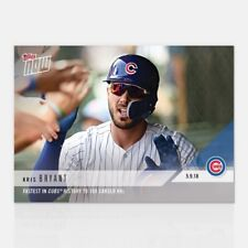 Kris Bryant 2018 Topps NOW Fastest in Cubs History to 100 Career HRs MLB # 191