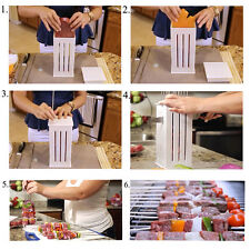 36 Hole Skewer Brochette meat Slicer BBQ Grill Shish Kabab Maker Box