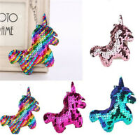 Mermaid Sequin Keychain Bag Accessories Handbag Pendant Horse Keyring Fashion Sn