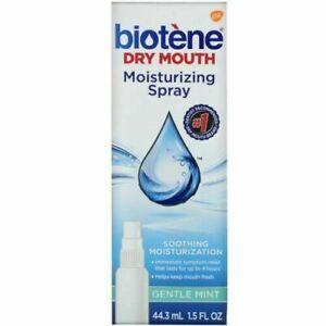 Biotene Dental Products Dry Mouth Moisturizing Spray, Mint, 44.3 ml Exp: 02/2021