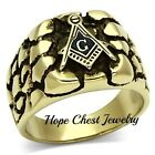 CLEARANCE-----MENS'S STAINLESS STEEL NUGGET STYLE MASONIC RING SIZE 8,9,10,12,13