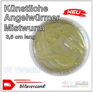 Künstliche Mistwürmer Kunstköder Mistwurm Angelwurm Angel 10x, 25x, 50x. Neon