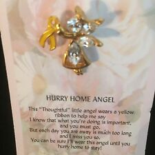 Angel Hurry Home Angel Tack Back Pin With A Thoughtful Message For A Special One