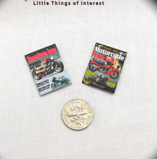 2 Miniature MOTORCYCLE MAGAZINES Dollhouse 1:12 Scale *2 FOR 1* American Iron