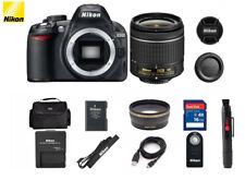 Nikon D D3100 14.2MP Digital SLR Camera with 18-55mm VR (2 LENSES) BUNDLE
