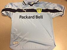 Puma 2000 Millenium LUFC Leeds United Packard Bell Men's Blue Soccer Jersey Sz L