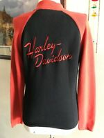 Harley Davidson Women'sFull Zipper Graphic Sweater/Top Harley Black/Orange Small