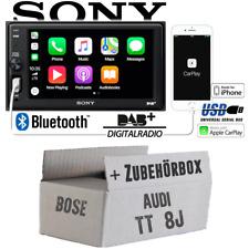 Radio Sony Bluetooth | DAB+ | Apple CarPlay | USB Einbauset für Audi TT 8J Bose