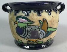 """Amphora Austria Arts & Crafts """"Campina"""" Duck Design Vase (c.1905-1910) 9cm high"""
