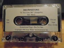 RARE PROMO Brownstone CASSETTE TAPE r&b If You Love Me acappella MICHAEL JACKSON