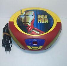 IRON MAN 2 Portable CD Player Boombox w/ Aux & AM/FM Radio (Antenna broken)