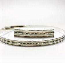 12 Inch x 5.6mm Width Sterling Silver 935 Strip Gallery Ribbon Pattern wire 0084
