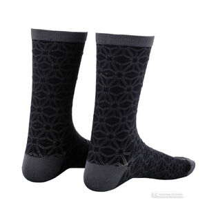 Supacaz SupaSox ASANOHA Tall Cycling Socks BLACKOUT - One Pair