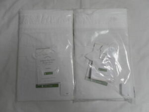 NEW AUTH POTTERY BARN BELGIAN FLAX LINEN  FLANGE SHAM SET OF 2 STANDARD 26X20 IN