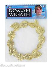 Gold Leaf Wreath Headpiece Crown Ancient Rome God Goddess Costume Accessory