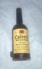 original & rare ANTIQUE C1900's~~ calvert bottle TAPE MEASURE~~FIGURAL CELLULOID