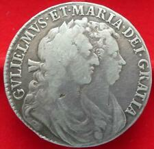 More details for 1689 william & mary halfcrown no pearls on crown which is scarcer variety