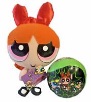 "New THE POWERPUFF GIRLS Blossom Plush 10"" Doll Cartoon Network with Green Ball"""
