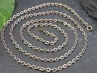 Lange Silber Kette Ankerkette Gliederkette Unisex Damen Herren Vintage Edel Top