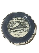 Fitz And Floyd Bristol Dated Collectors Plate Christmas 2016