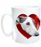 Greyhound Mug - 3 different Greyhounds in Hearts Birthday Gift % to Charity