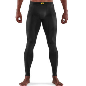 Skins Mens Series 5 Long Tights Bottoms Pants Trousers Black Sports Running Gym
