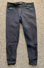 Gently Used - SmartPak Piper Breeches - Grey & Teal Full Seat - 28R