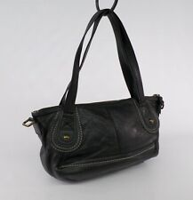 The Sak Leather Handbag Purse Satchel Bag Pebbled Black