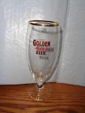 Cerveja Golden Premium Beer Drinking Glass - Portugal - Rare